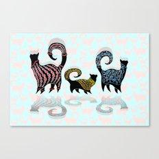 CASHMERE CATS Canvas Print