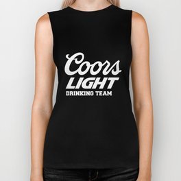 Coors light drinking team beer party cool hot funny beerfest beer Biker Tank