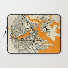 Boston Map Moon Laptop Sleeve