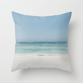 Crash Into The Sea Throw Pillow