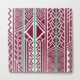 Tribal ethnic geometric pattern 035 Metal Print