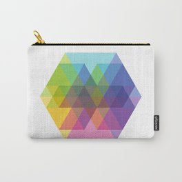Fig. 040 Hexagon Shapes Carry-All Pouch