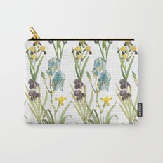 Vintage Floral Pattern | No. 2B | Iris Flowers | Irises Carry-All Pouch