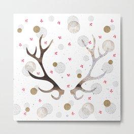 Reindeer horns Metal Print