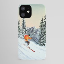 Skiing The Clear Leader iPhone Case