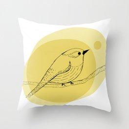 warbler Throw Pillow