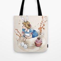 Tea Time in Wonderland Tote Bag