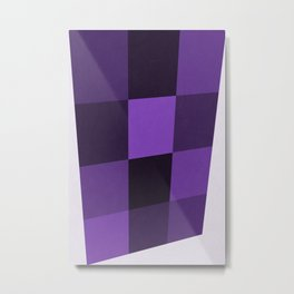 Abstract Ultra Violet Palette Metal Print