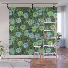 Gillian Floral Green Wall Mural