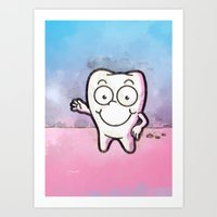 tooth Art Prints featuring Tooth by Martin Jonas