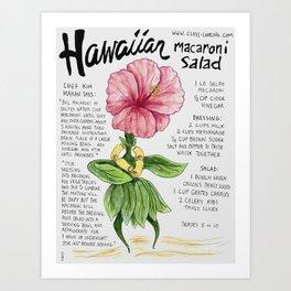 Hawaiian Macaroni Salad Art Print