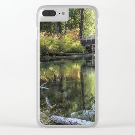 Fall at Clear Lake, No. 2 Clear iPhone Case