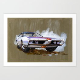 1966 SX Muscle Car Sketch Art Print