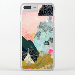 she turned herself into a mountain 2 Clear iPhone Case