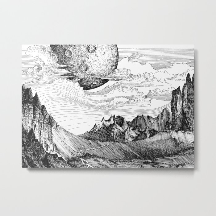 The mountains Metal Print