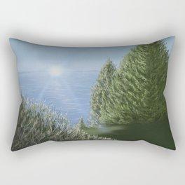 Majestic A Golf Course View Rectangular Pillow