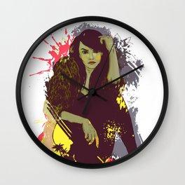 woman K. Wall Clock