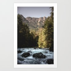 Mountain River Run Art Print