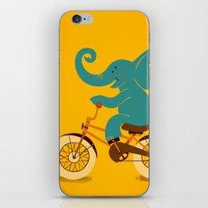 Elephant on the bike iPhone & iPod Skin