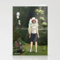 princess mononoke Stationery Cards featuring Princess Mononoke by ketizoloto