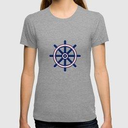 AFE Pink and Navy Helm Wheel T-shirt