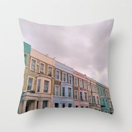 Colourful houses in Notting Hill, London Throw Pillow