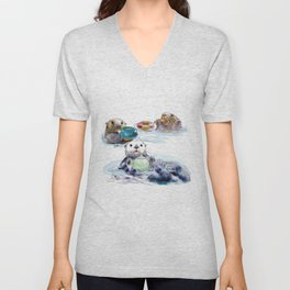 The Otter's Tea Unisex V-Neck