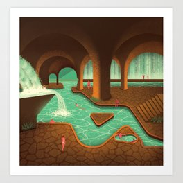 Secret Thermal Baths Art Print
