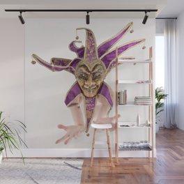 1387s-MM Jester Mask on a Implied Nude Fine Art Model Wall Mural