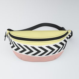 Black and white arrows Fanny Pack