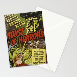 House of Horrors, vintage horror movie poster Stationery Cards