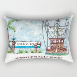 Mississippi Gulf Coast Rectangular Pillow
