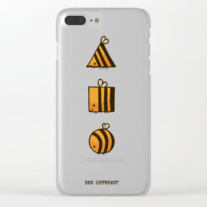 BEE DIFFERENT Clear iPhone Case