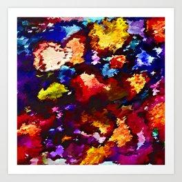 Flower Market Abstract Art Print