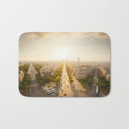 Champs Elysees From the Top Bath Mat