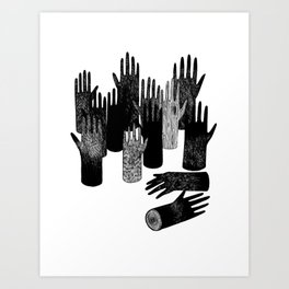 The Forest of Hands Art Print