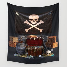 Pirate Treasure Wall Tapestry