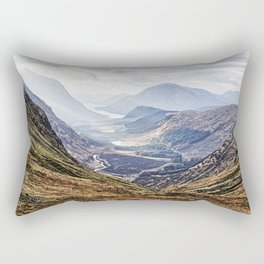 View of Glen Etive from Glencoe, Scotland Rectangular Pillow