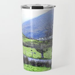 The Sign on the Road to Buttermere, Lake District, UK Watercolour Travel Mug