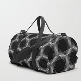 crazy hexagons (reverse) Duffle Bag