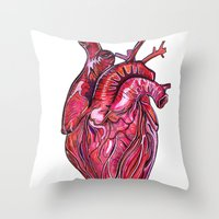 romance Throw Pillows featuring Romance by Adam McDade