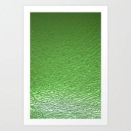 Green Crash II Art Print