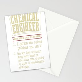 Chemical Engineer Funny Dictionary Term Stationery Cards