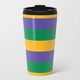 Mardi Gras Rugby Stripe Travel Mug