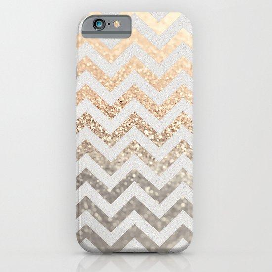 GOLD & SILVER CHEVRON iPhone & iPod Case