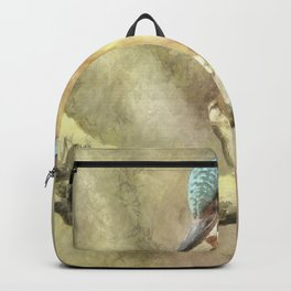 Stunning Kingfisher In Watercolor Backpack