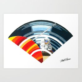 """Pianist Vinyl Wi-Fi """"Sound of Space Band"""" Art Print"""