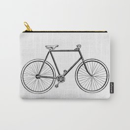 Vintage Bike Illustration Carry-All Pouch