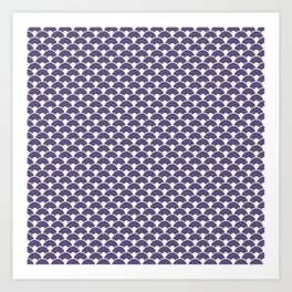 Dragon Scales Deep purple Art Print