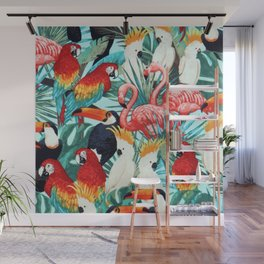 Exotic birds Wall Mural